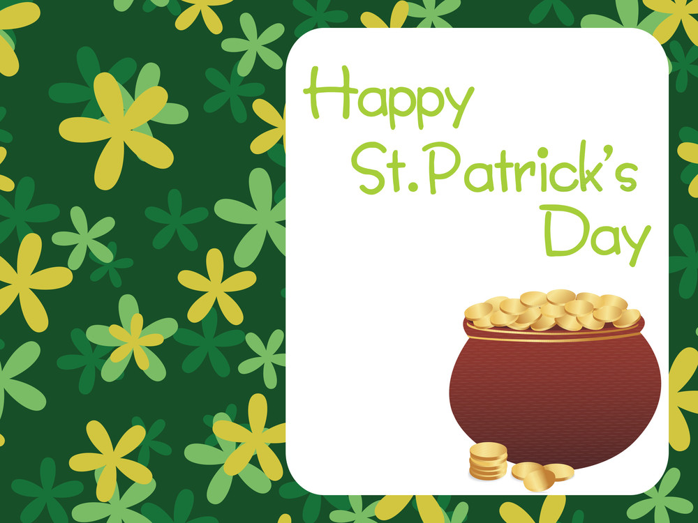 Shamrock Background With Magical Earthenware 17 March
