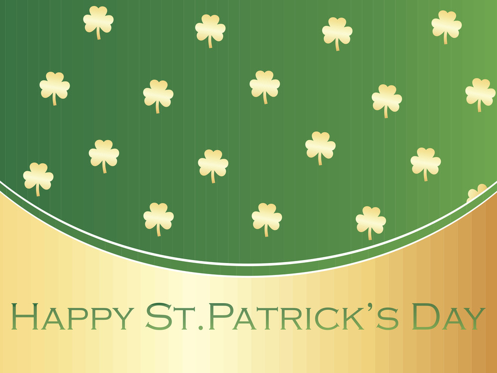 Shamrock Background With Patric Day Wallpaper 17 March