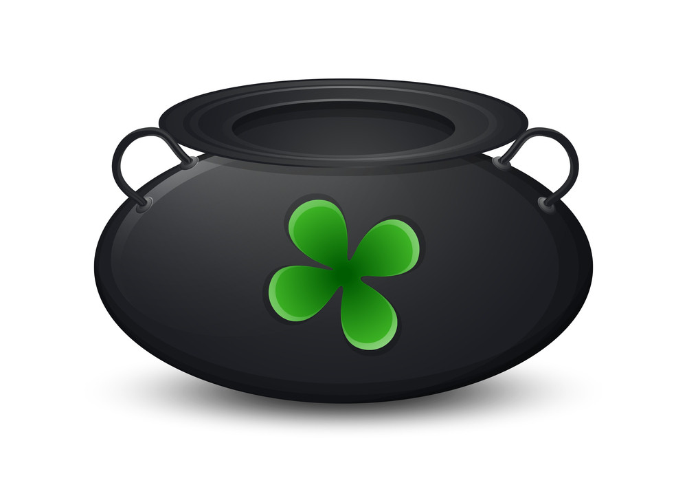 Shamrock Cauldron Vector