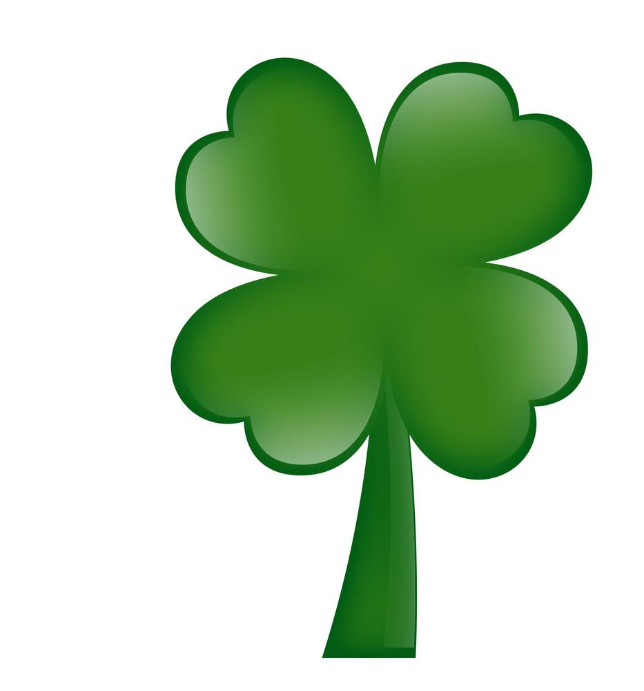 Shamrock Green Leaf Icon