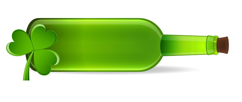 Shamrock With Beer Bottle