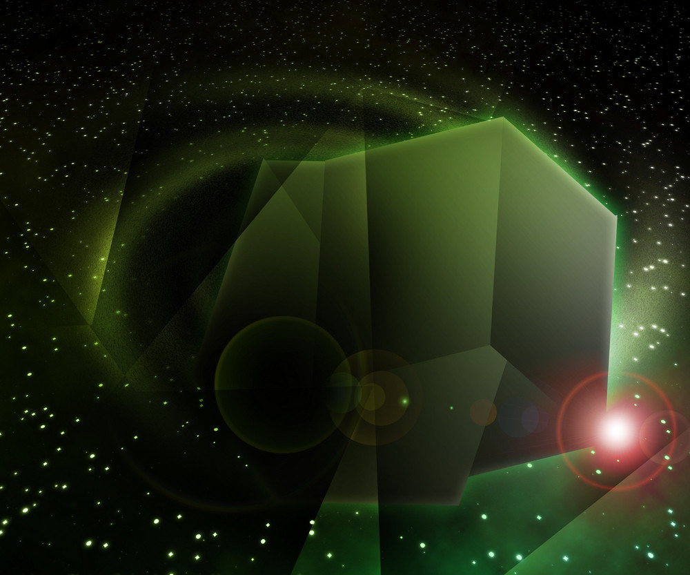 Shape In Black Hole In Space Background