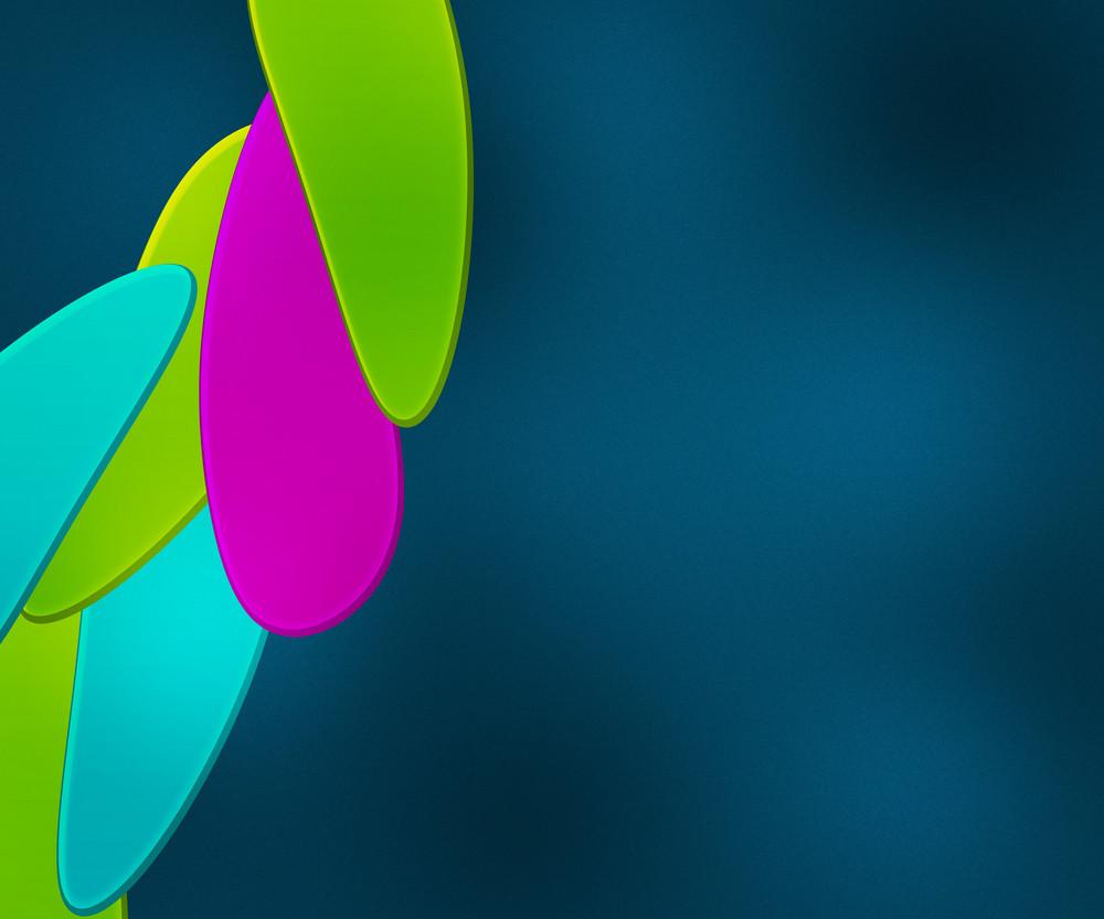 Shapes Blue Background