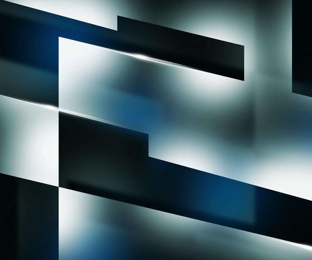 Shapes Dark Blue Background