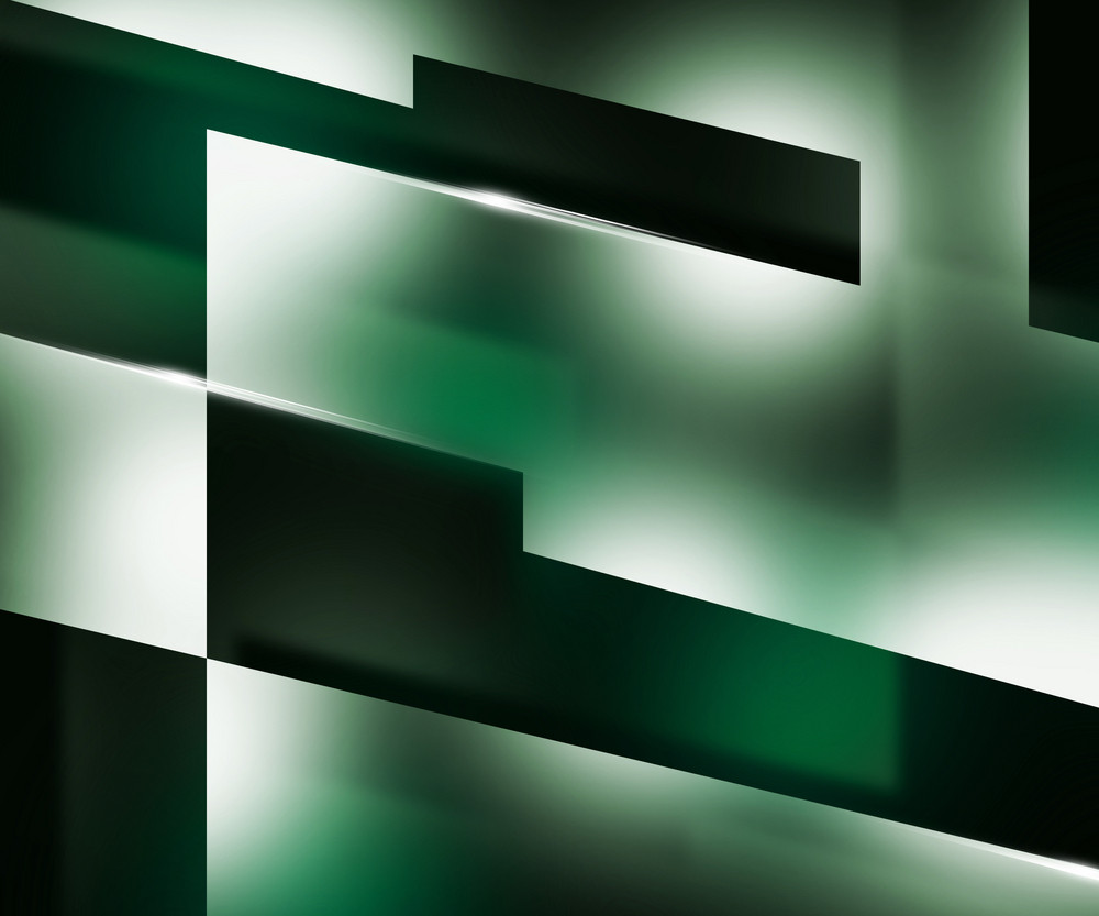 Shapes Dark Green Background