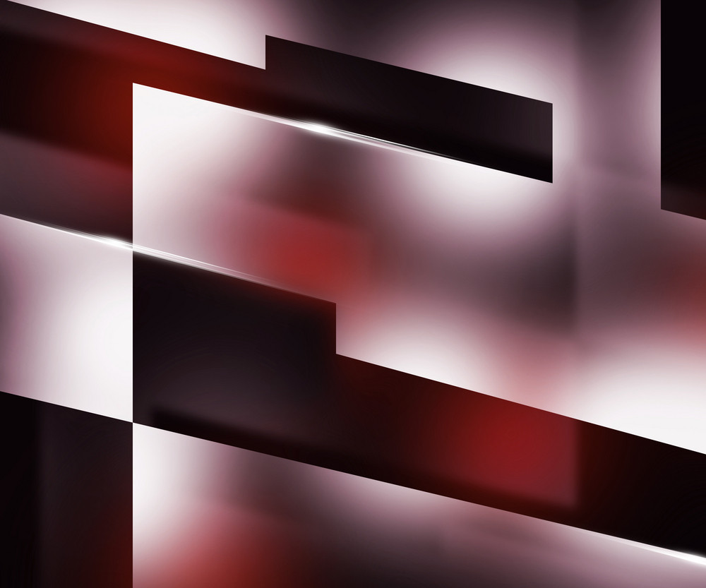 Shapes Dark Red Background