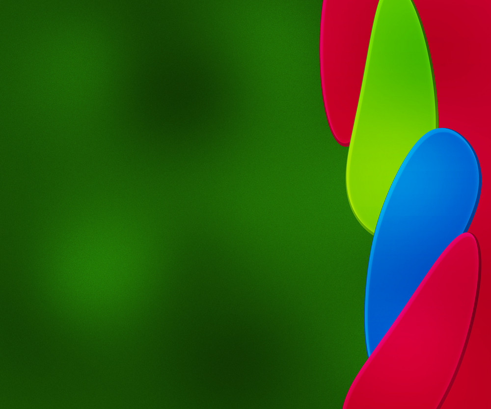Shapes Green Background