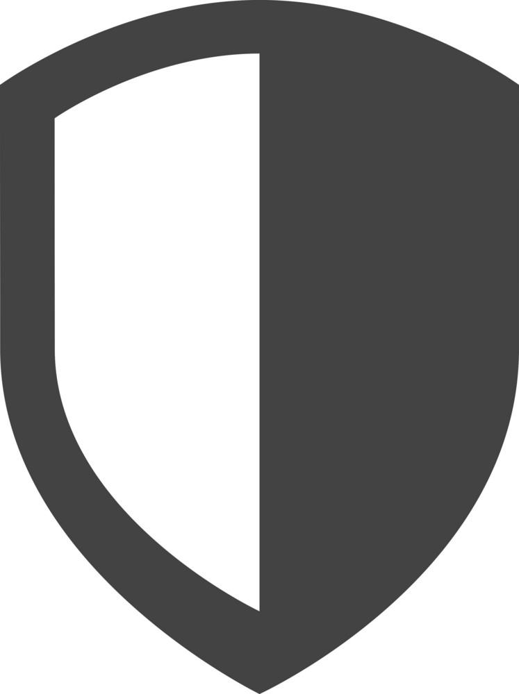 Shield 1 Glyph Icon
