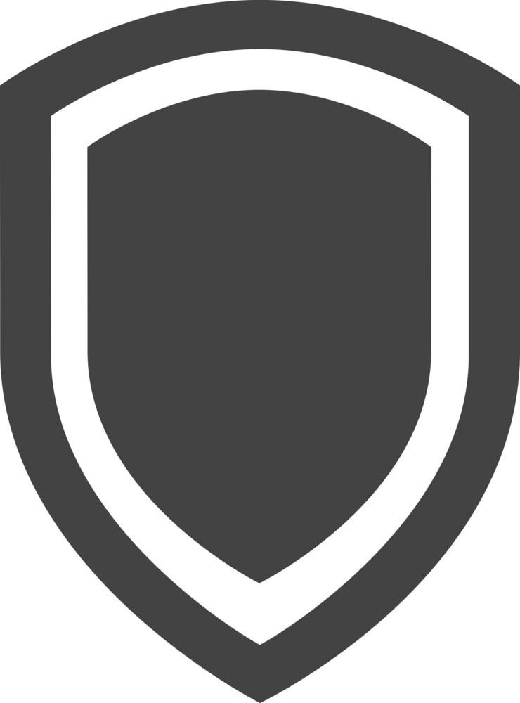 Shield 3 Glyph Icon