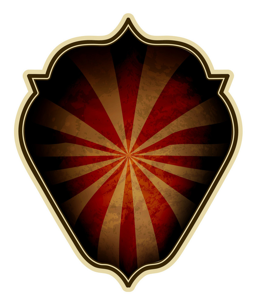 Shield With Rays Vector Illustration
