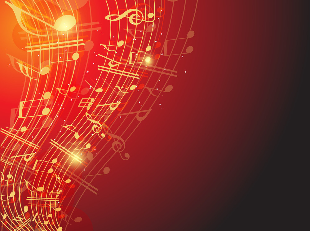 Shiney Musical Notes -vector Illustration10 Background.