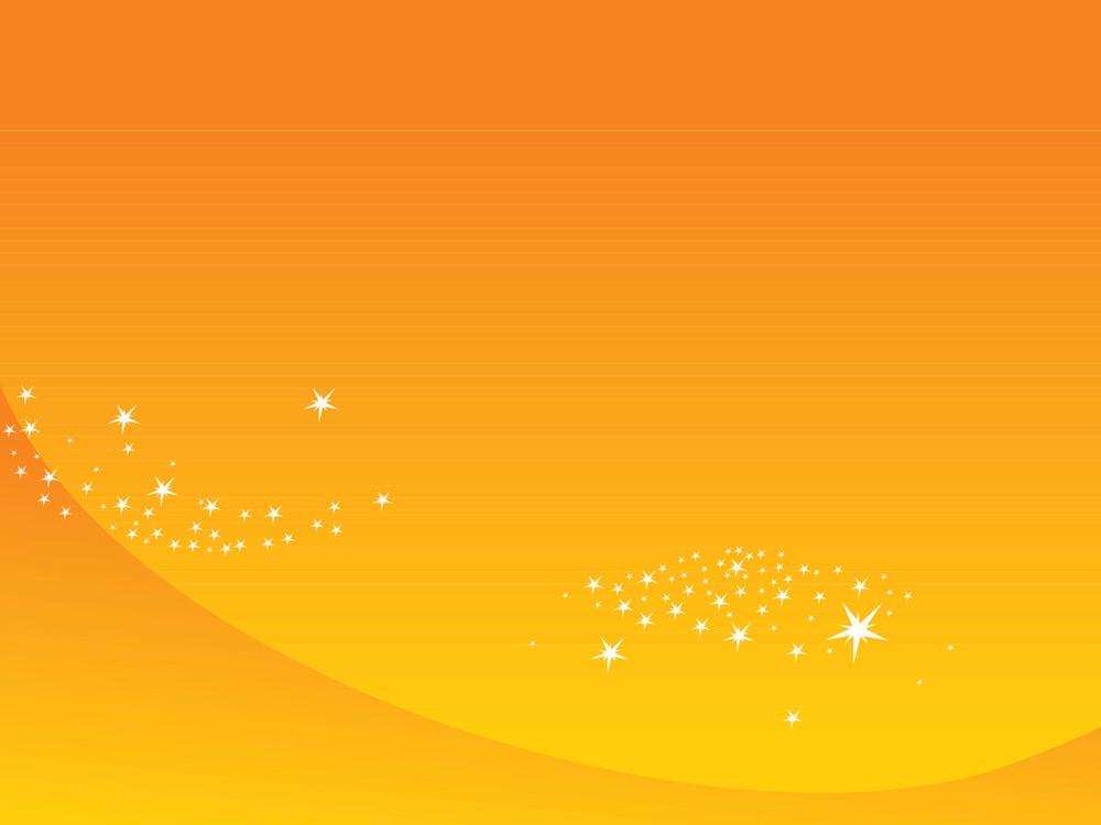 Shining Stars With Orange Background