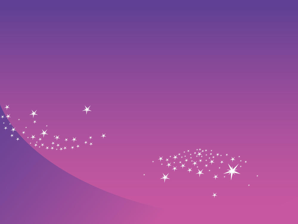 Shining Stars With Purple Background