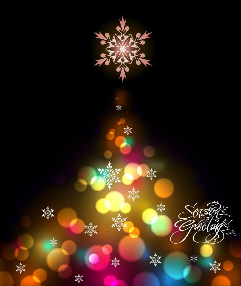Shinny Christmas Tree Background