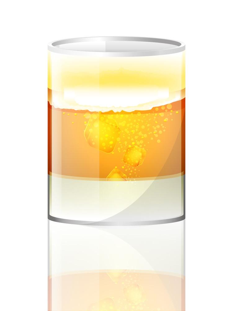 Shiny Beer Glass Vector