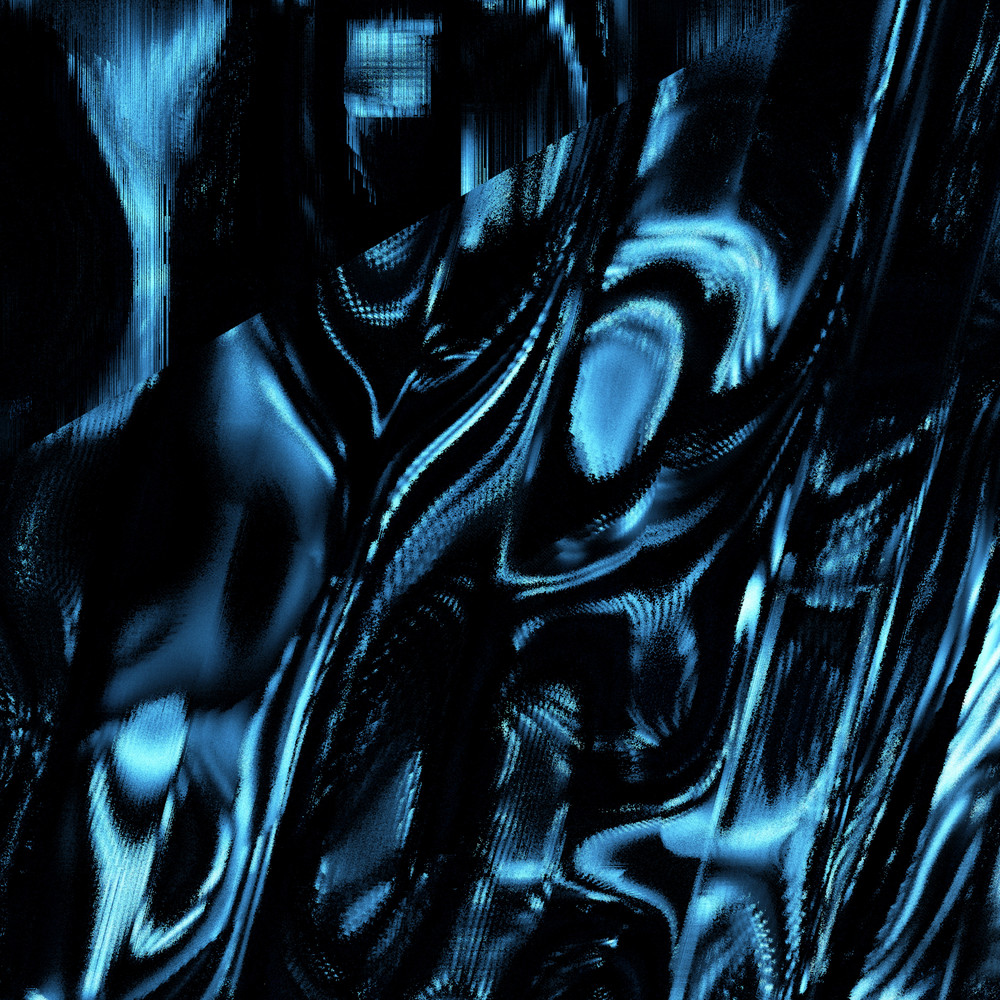Shiny Blue Foil Background Reflective Bumpy And Crinkled