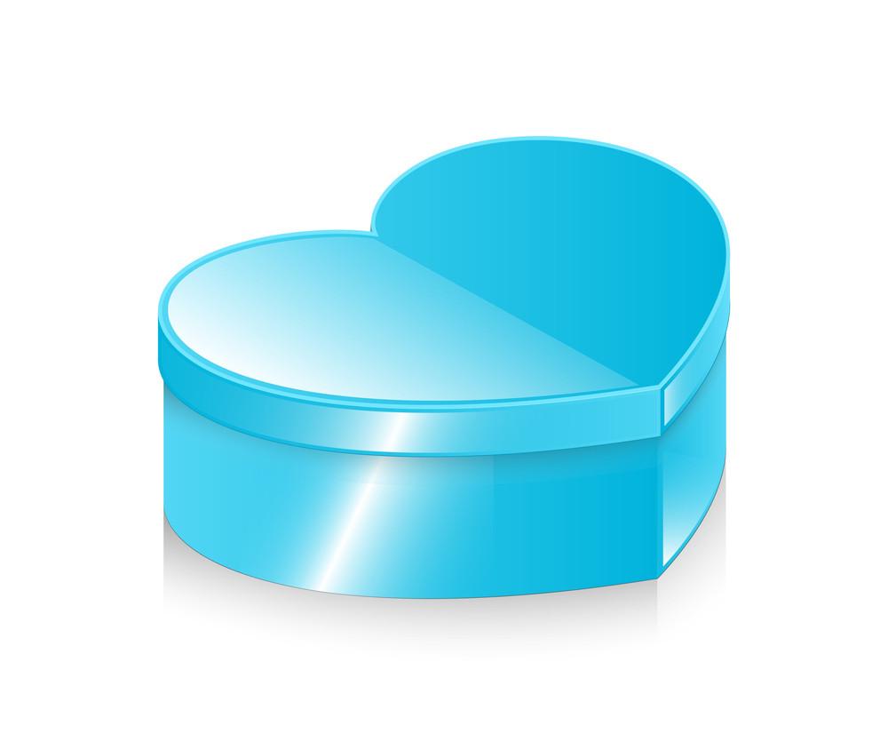 Shiny Blue Heart Box