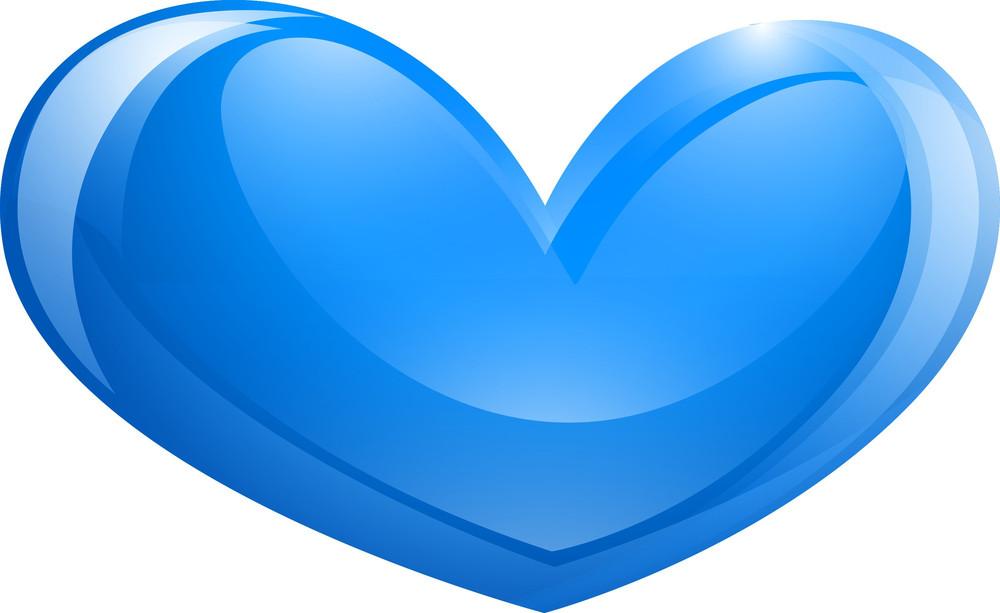 Shiny Blue Heart