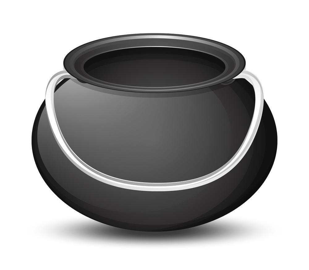 Shiny Bright Black Cauldron