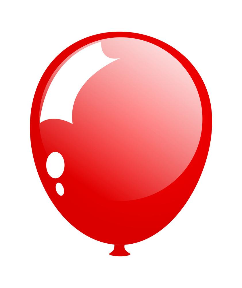 Shiny Bright Red Balloon