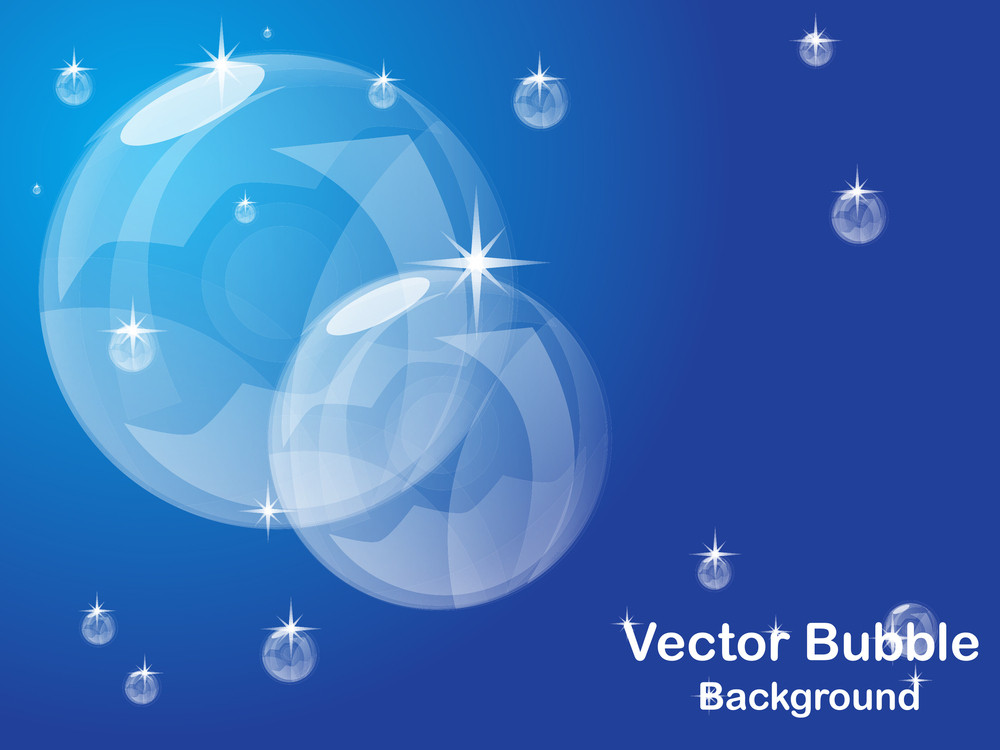 Shiny Bubble Background. Vector Illustration.