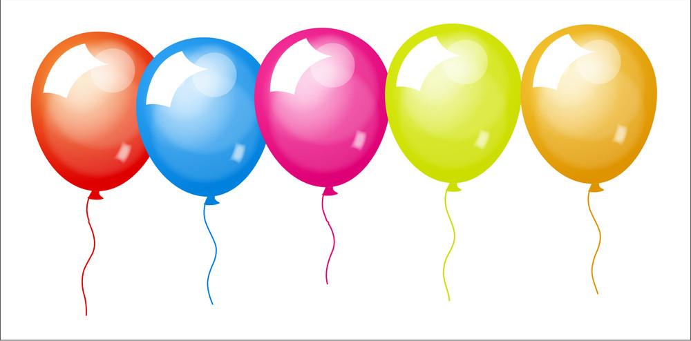 Shiny Colored Balloons