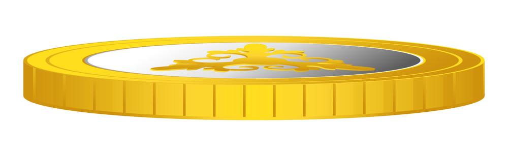 Shiny Gold Coin Vector Design