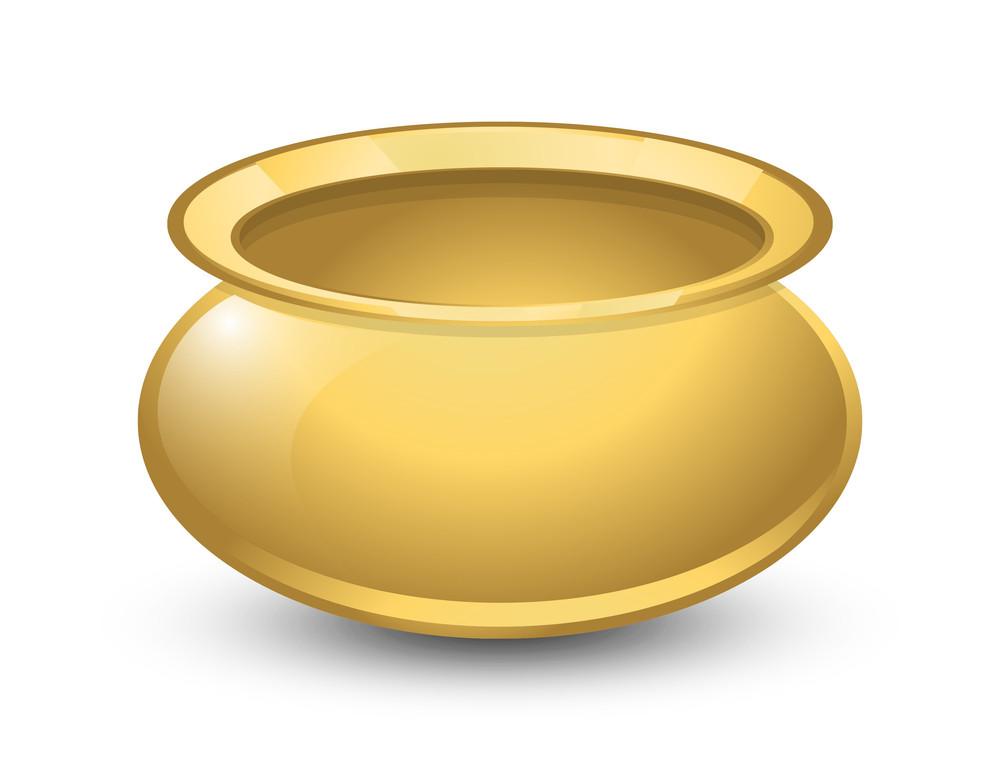Shiny Golden Cauldron Object