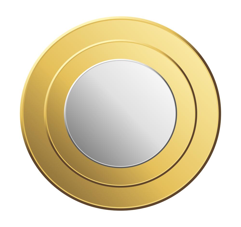 Shiny Golden Silver Coin