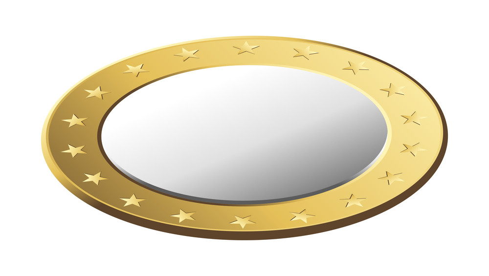 Shiny Golden Vector Coin