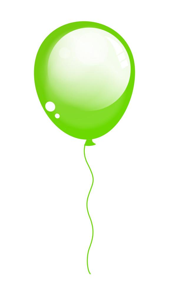 Shiny Green Balloon