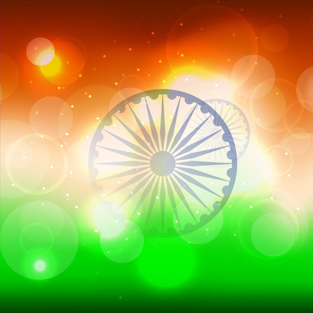 Shiny Indian Flag Background.
