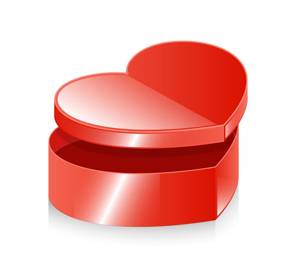 Shiny Love Heart Box