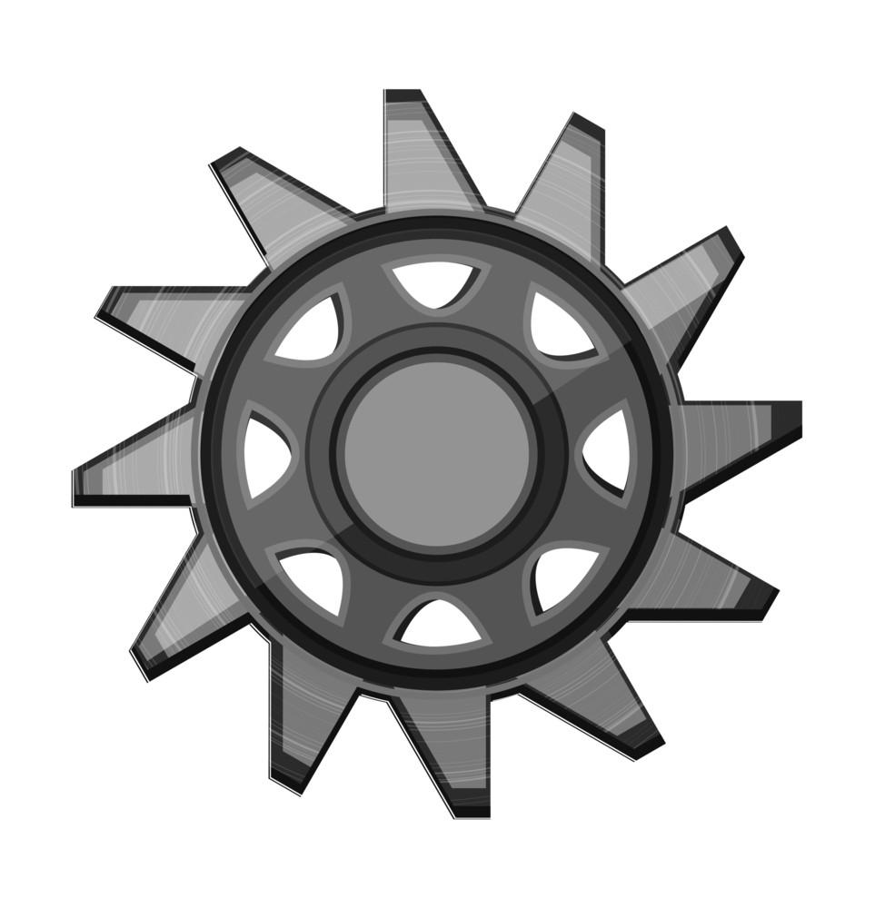 Shiny Metallic Gear Wheel
