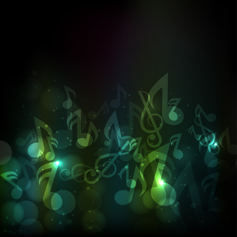 Shiny Musical Notes Background