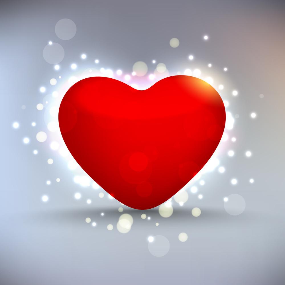Shiny Red Heart.