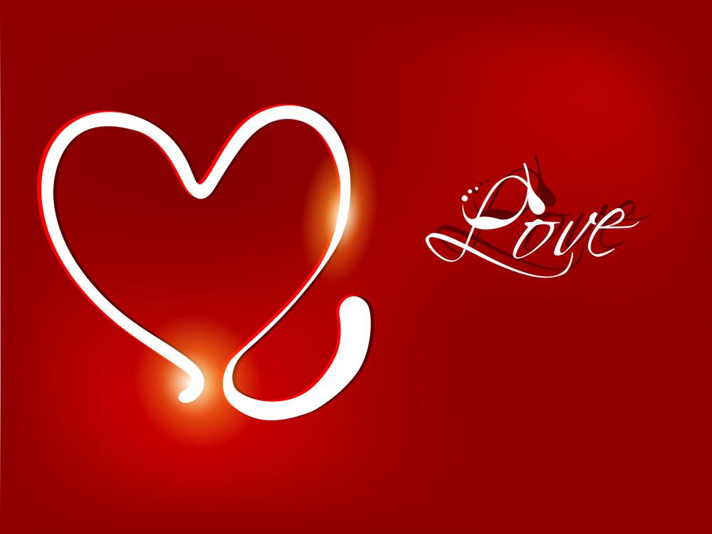 Shiny Red Valentine Heart.