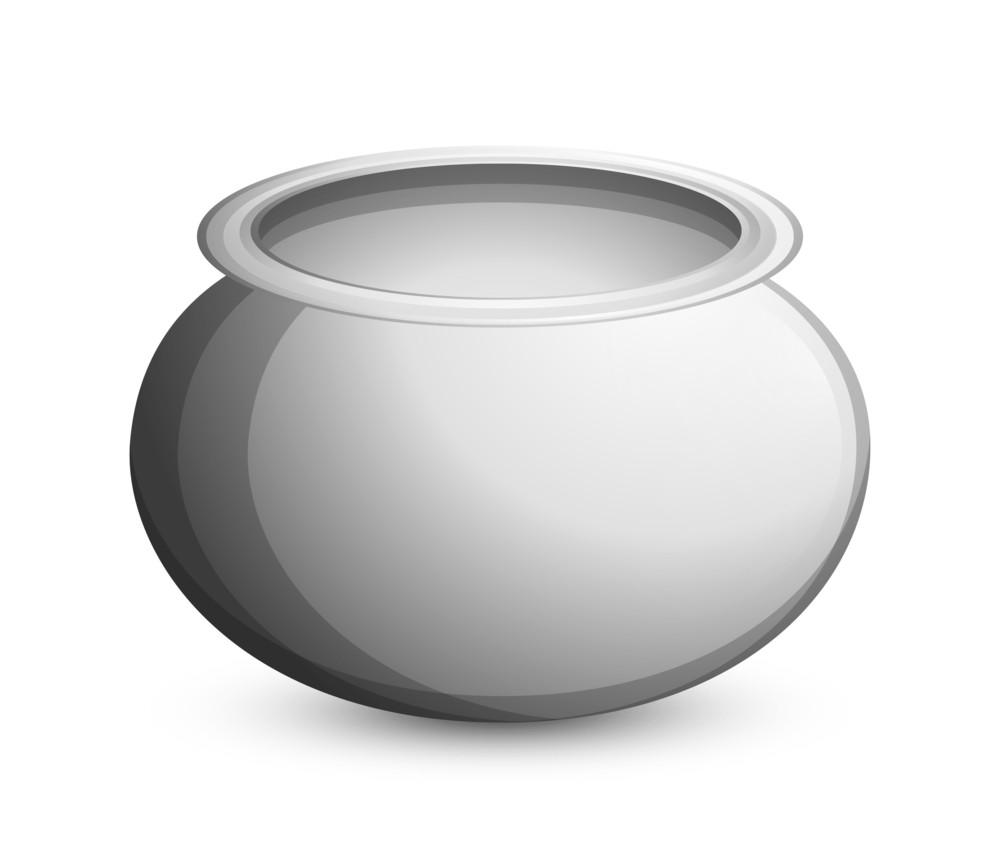 Shiny Silver Cauldron