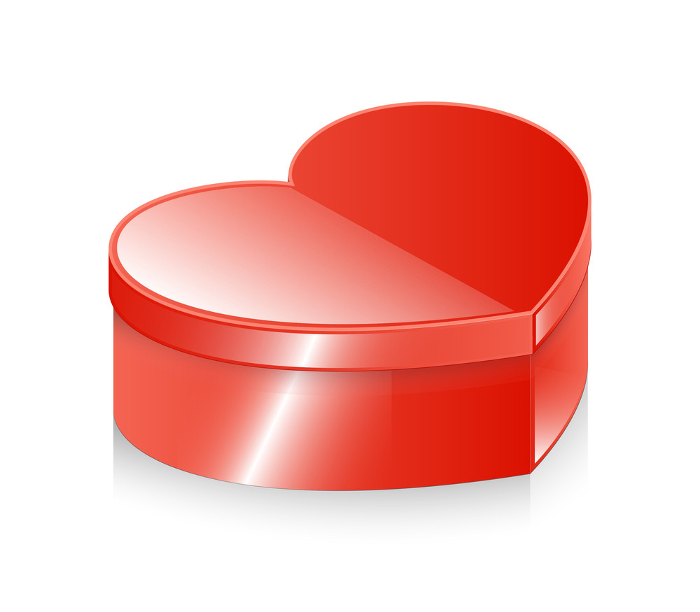 Shiny Valentine Heart Box