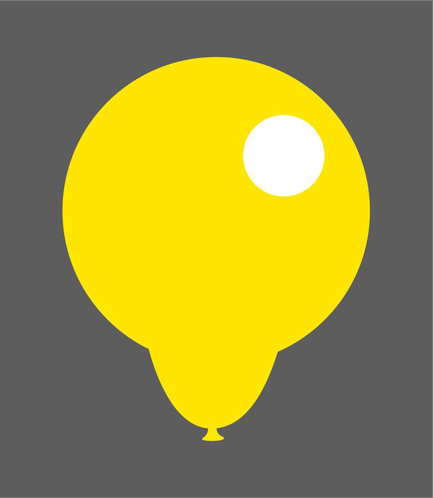 Shiny Yellow Balloon Design