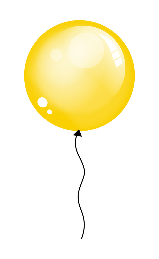 Shiny Yellow Balloon