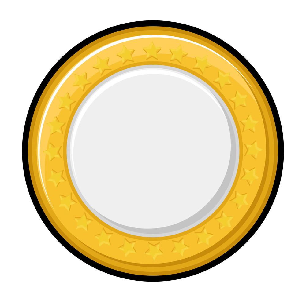 Shiny Yellow Coin Vector