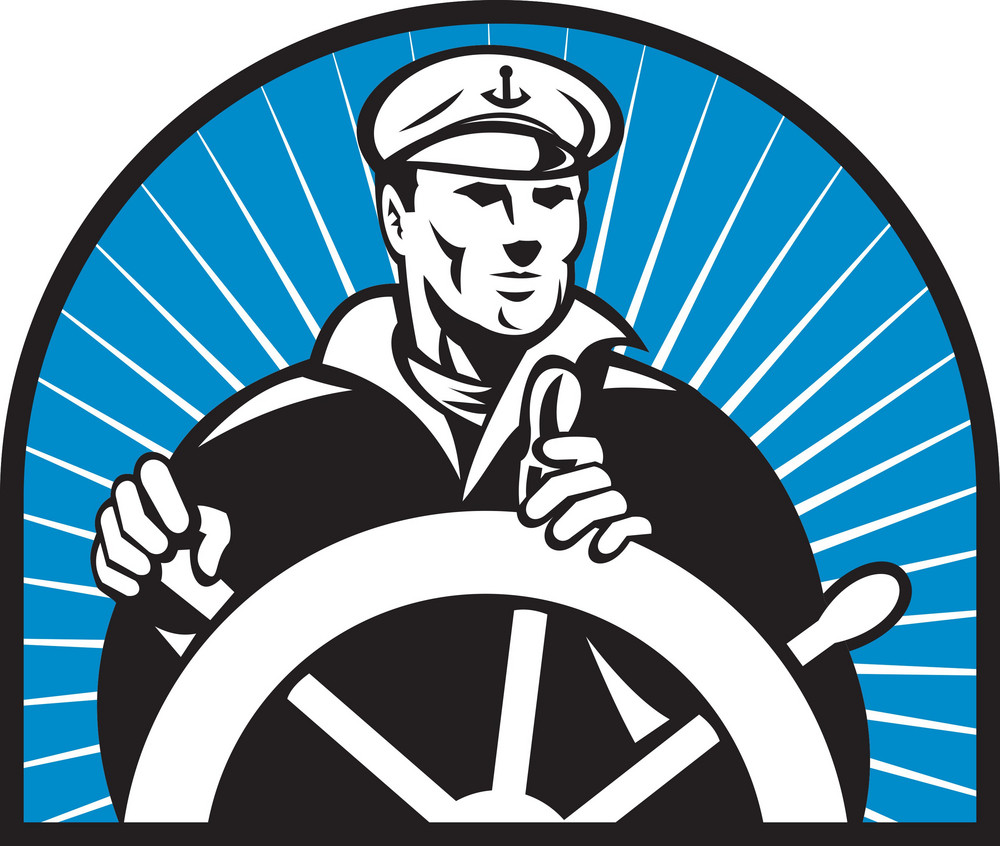 Ship Captain Helmsman Steering Wheel