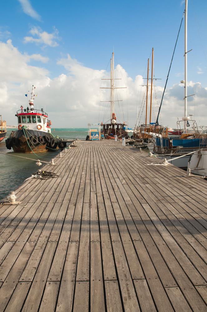 Ships At Pier