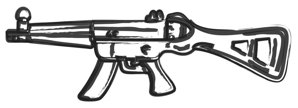 Shooting Gun Drawing Vector