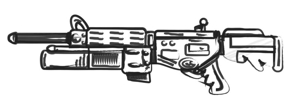 Shooting Gun Sketching