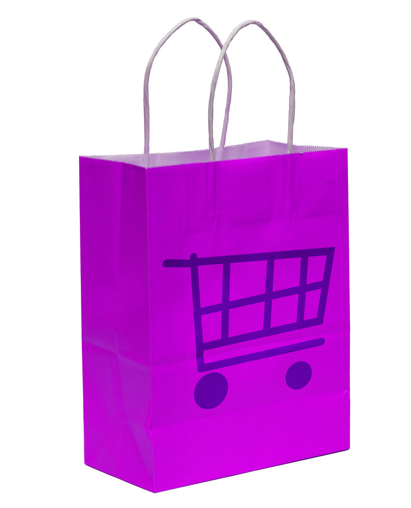 Shopping Bag With Shopping Cart