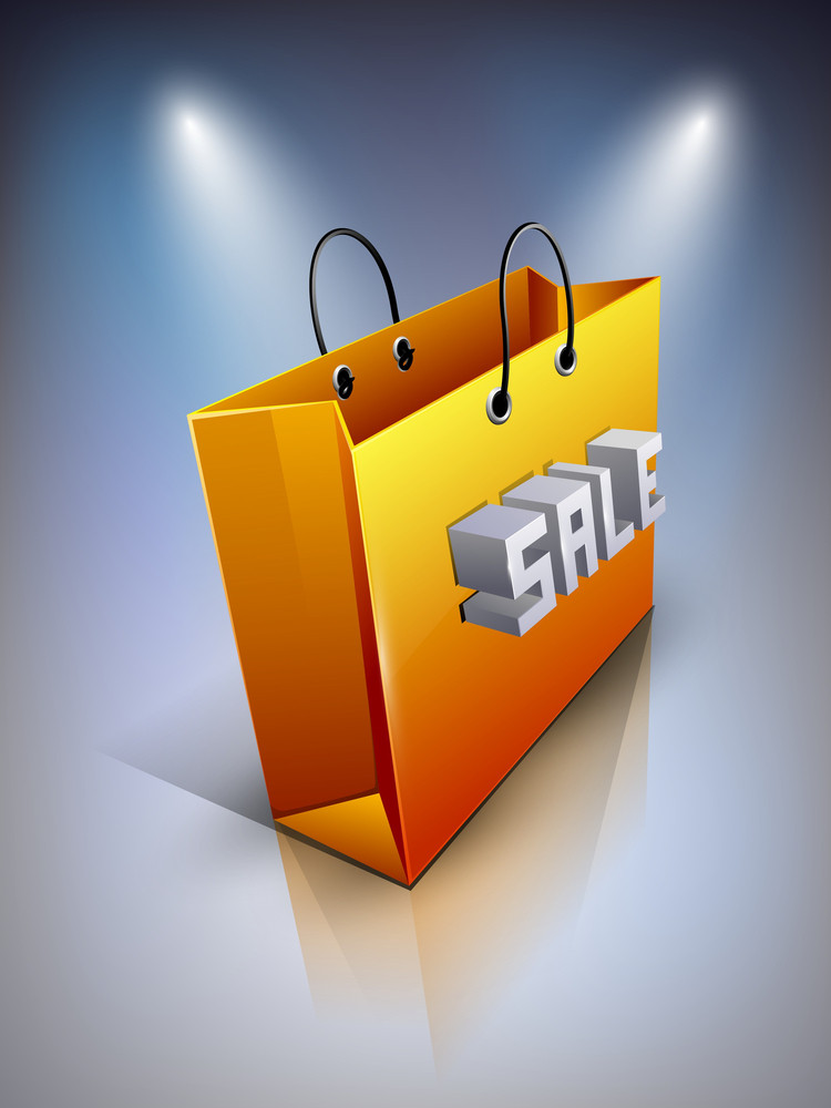 Shopping Bag With Text Sale