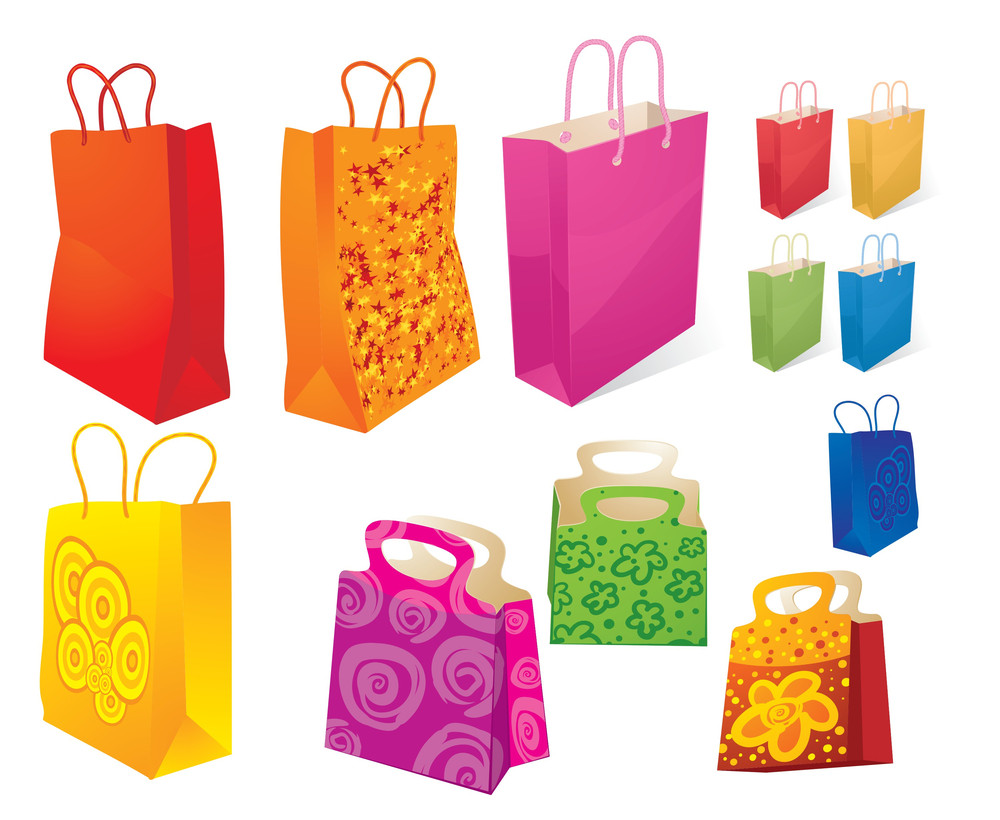 Shopping Bags. Vector.