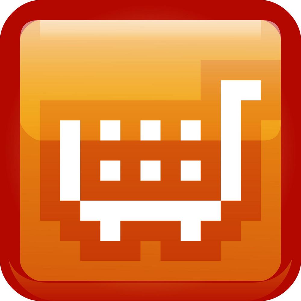 Shopping Cart Orange Tiny App Icon